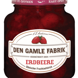 Den Gamle strawberry jam 380g