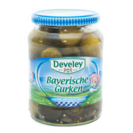 Develey Bavarian Gherkins 720ml (12)