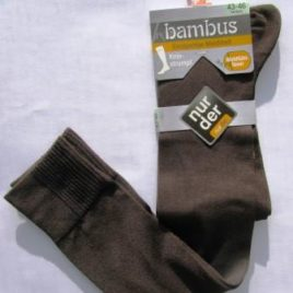 ND gents bamboo knee highs brown 43-46