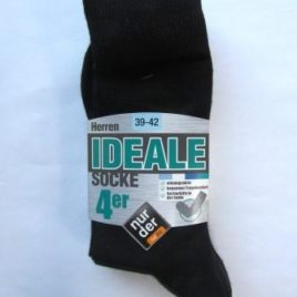 ND gents ideal socks 4pairs assort colou