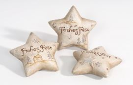 Cer. star w/wording: FROHES FEST ca. 12