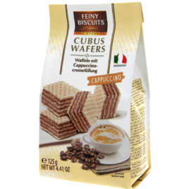 Feiny Cubus Wafers Cappuccino 125g (12)