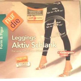 ND ladies leggings active slim black L