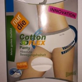 ND Cotton 3Dflex Panty White 44/46L