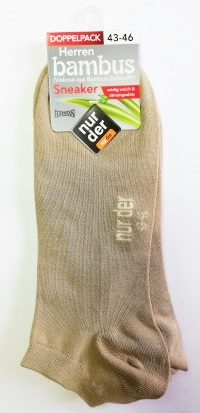 ND men bamboo sneak socks DP beige 43-46