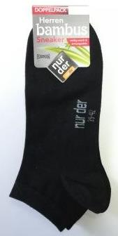 ND men bamboo sneak sock DP black 39-42