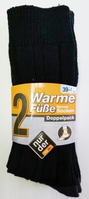 ND gents warm feet socks set of 2 39-42