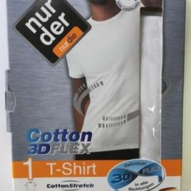 ND gents Cotton 3D Flex White Tshirt 5M