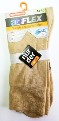 ND Gent Socks 3DFLEX Beige 43-46