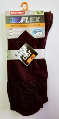 ND Gent Socks 3DFLEX Brown 43-46