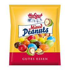 Hofgut mixed colour choc peanuts 250g(24